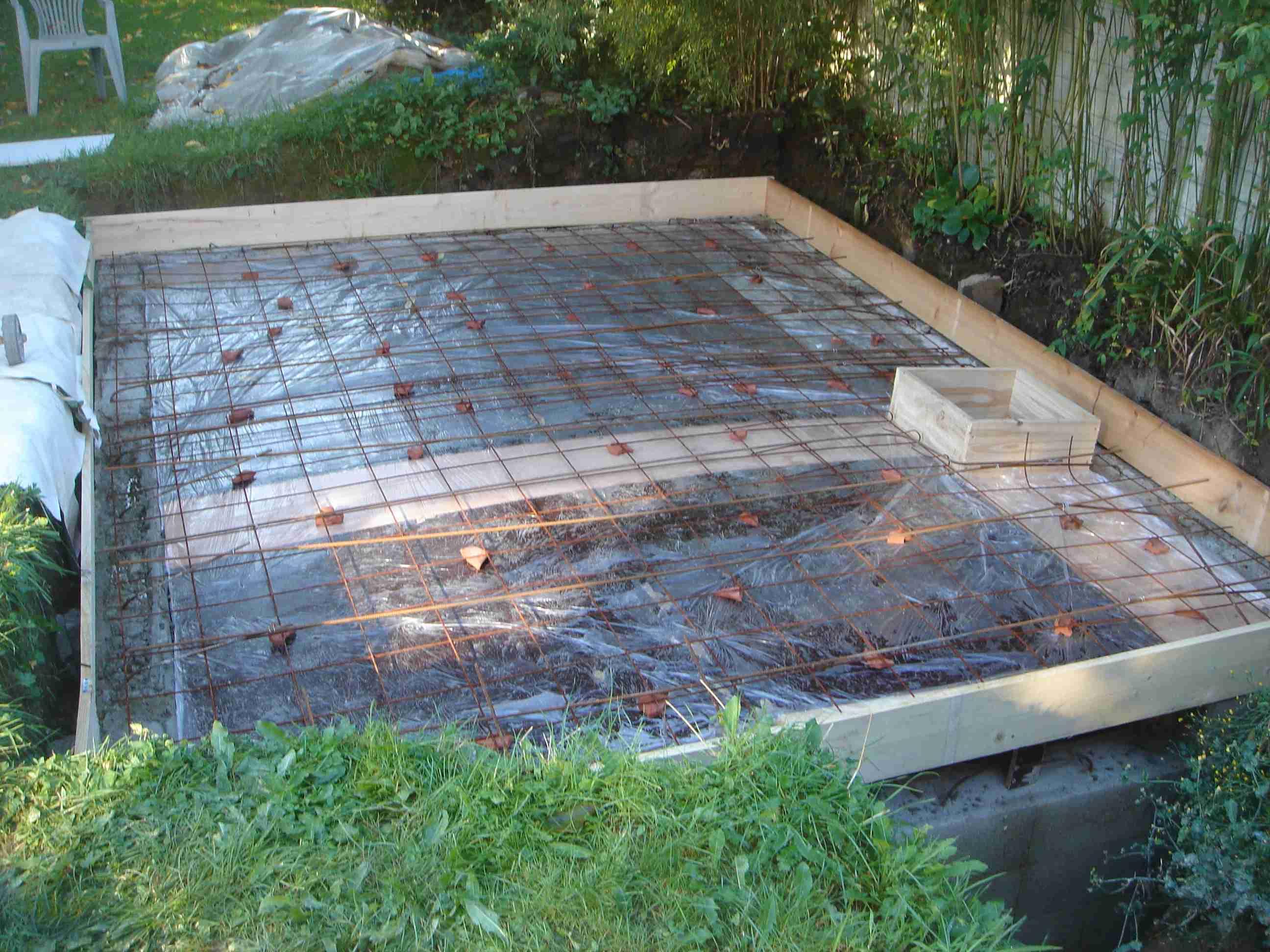 Construction cuve a eau de pluie - Dosage beton desactive ...